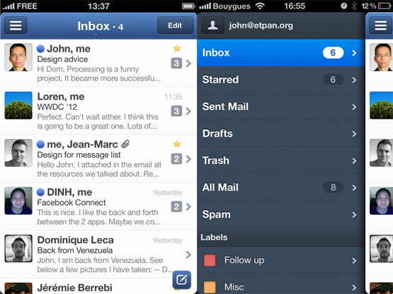 Sparrow_app_screens