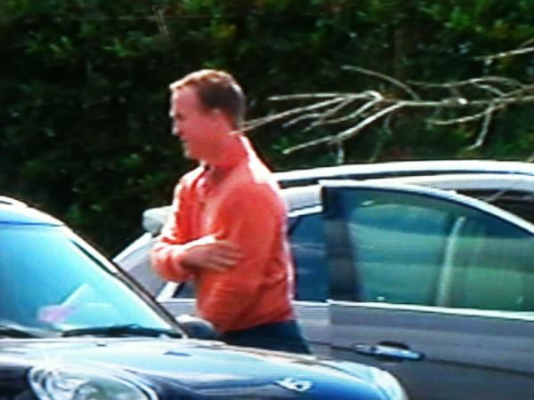 That Is A Picture Was Sned By Ian Rhodes Ianrhodeswsmv Of Wsmv Peyton Manning Getting Out The Car When He Arrived At Baptist Sports