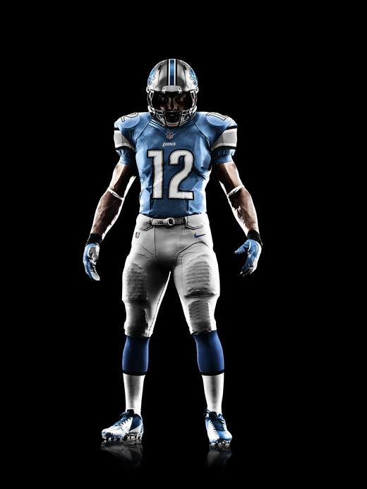 tom andrews - Nike NFL Uniforms: Detroit Lions\u0026#39; New Jersey Released - Pride Of ...
