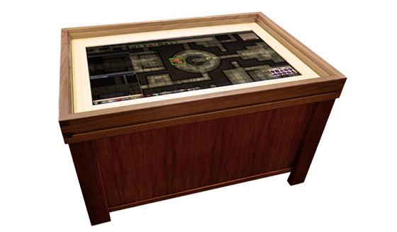 Geek Chic Gaming Tables Add 40inch Touchscreens To The Mix Polygon Unique Wooden Gaming Table