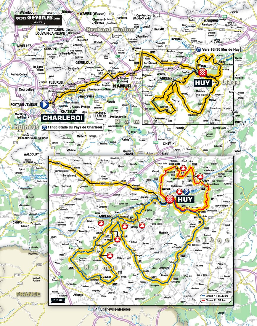 Flche Wallone Preview 204km of Waiting for the Mur de Huy Podium