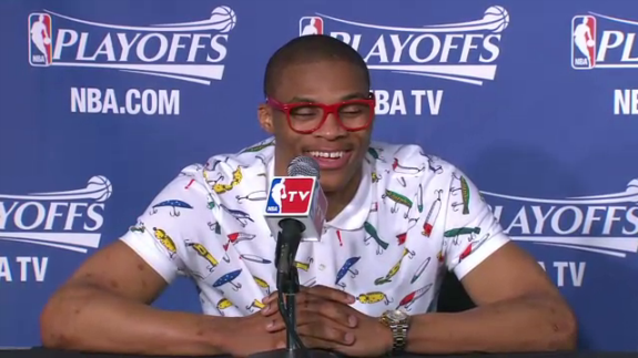 Russell Westbrook Press Conference Outfit Was Bold Choice