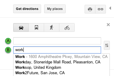 Google-maps-work-shortcut-screenshot