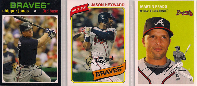 2012 Topps Archives Chipper / Heyward / Prado