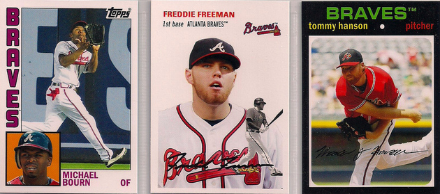 2012 Topps Archives Bourn / Freeman / Hanson