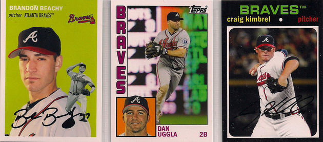 2012 Topps Archives Beachy / Uggla / Kimbrel