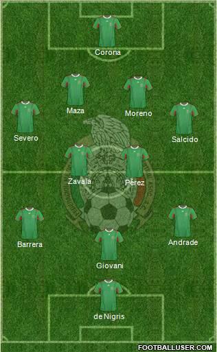 Mexico lineup