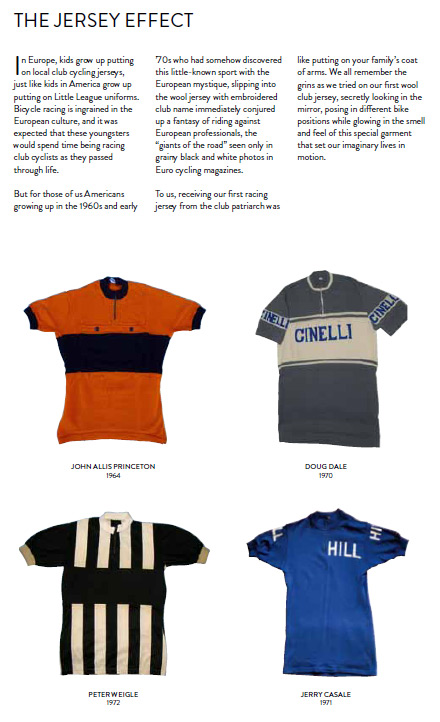 The Jersey Project - page layout example