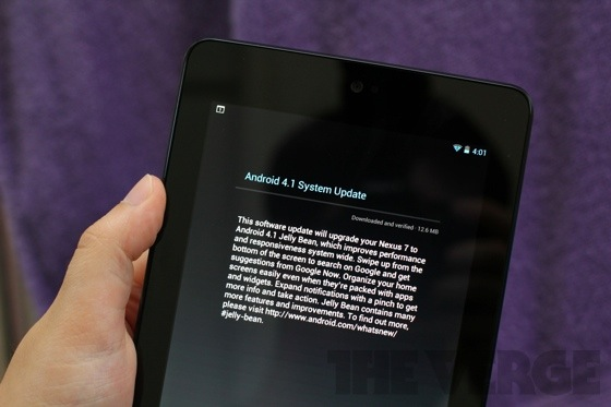 Nexus 7 updated to Android 4.1.1, adds Google Wallet