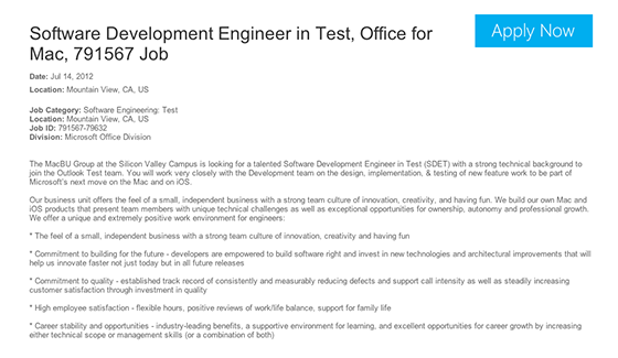 outlook and powerpoint for ios spotted in microsoft job postings