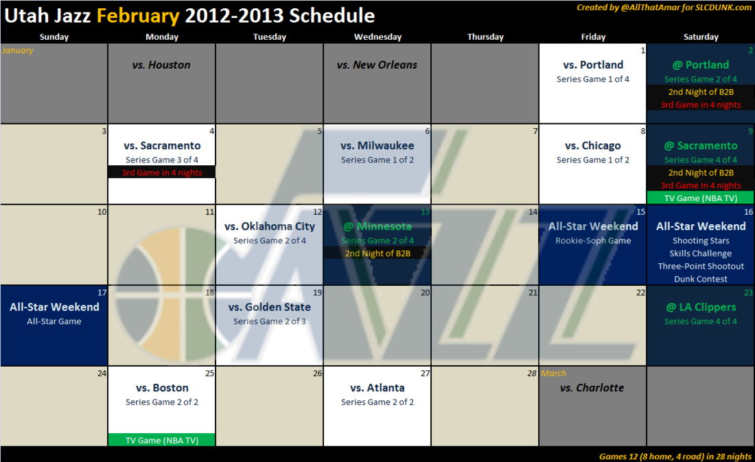 utah jazz remaining schedule