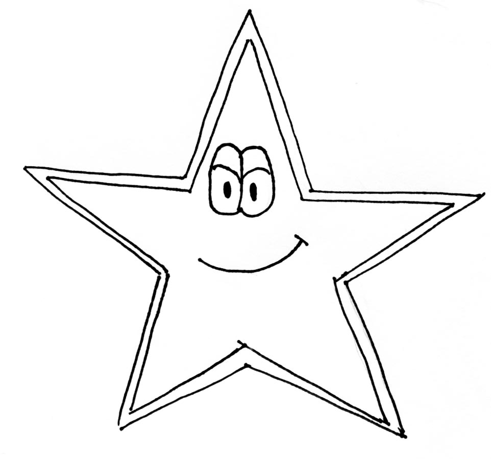 Star Cartoon Drawing One Day The Star of The North