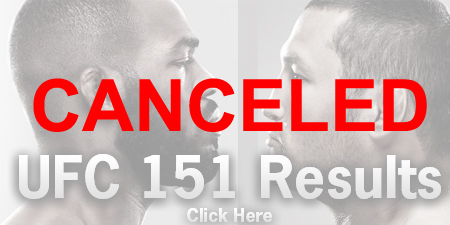 UFC 151 Results