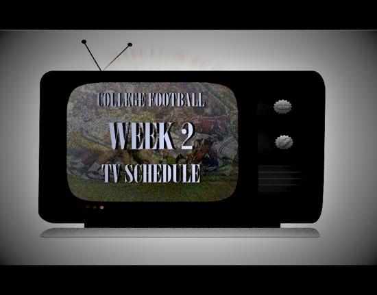 CFB Week 2 TV