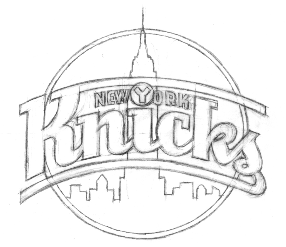 behind the knicks logo with michael doret page 2 sports logos