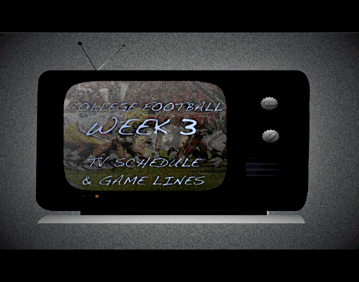 CFB Week 3 TV