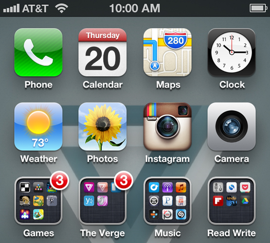 Top of Iphone Icons of Icons on The Iphone 5