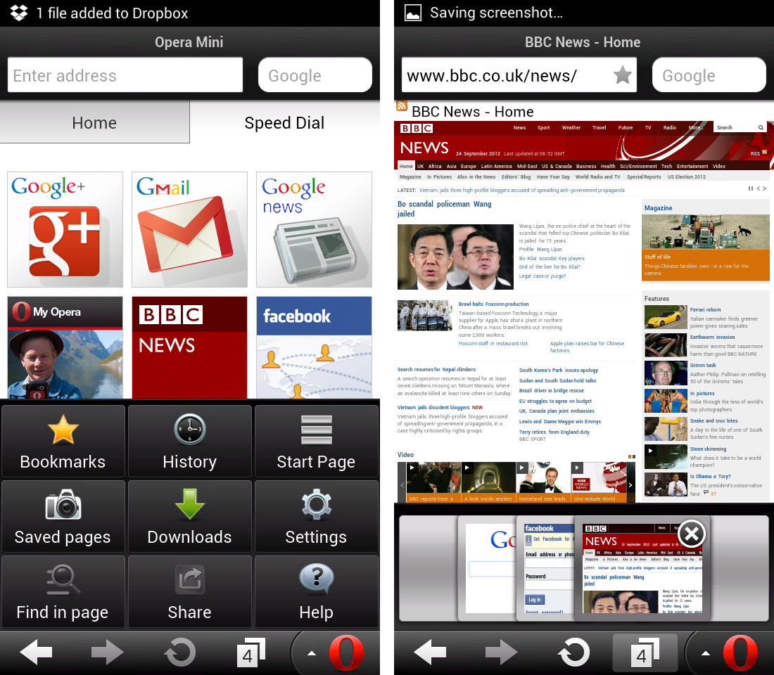 Phone Opera Mini For Android Phones opera mini 7 5 for android hands on the verge operascreens1