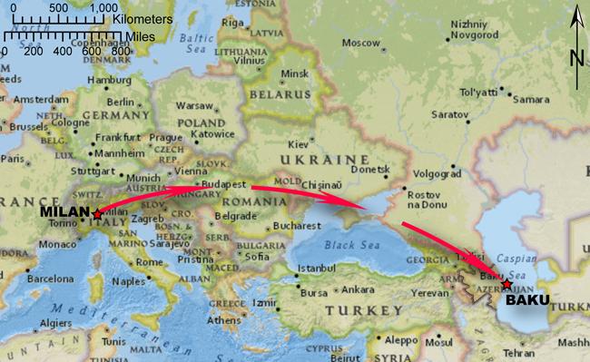 Neftçi PFK V Inter Milano Going To The Baku Of Beyond Serpents - Where is baku