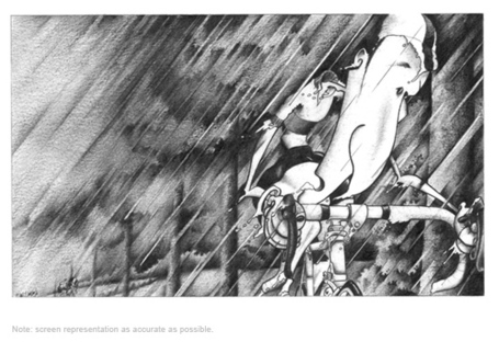 One of Jo Burt's illustrations for Paul Fournel's V&eacute;lo