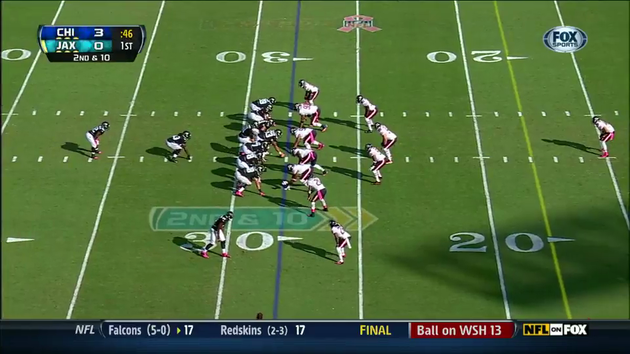 46 Seconds in the First, Jones Drew behind 8 blockers
