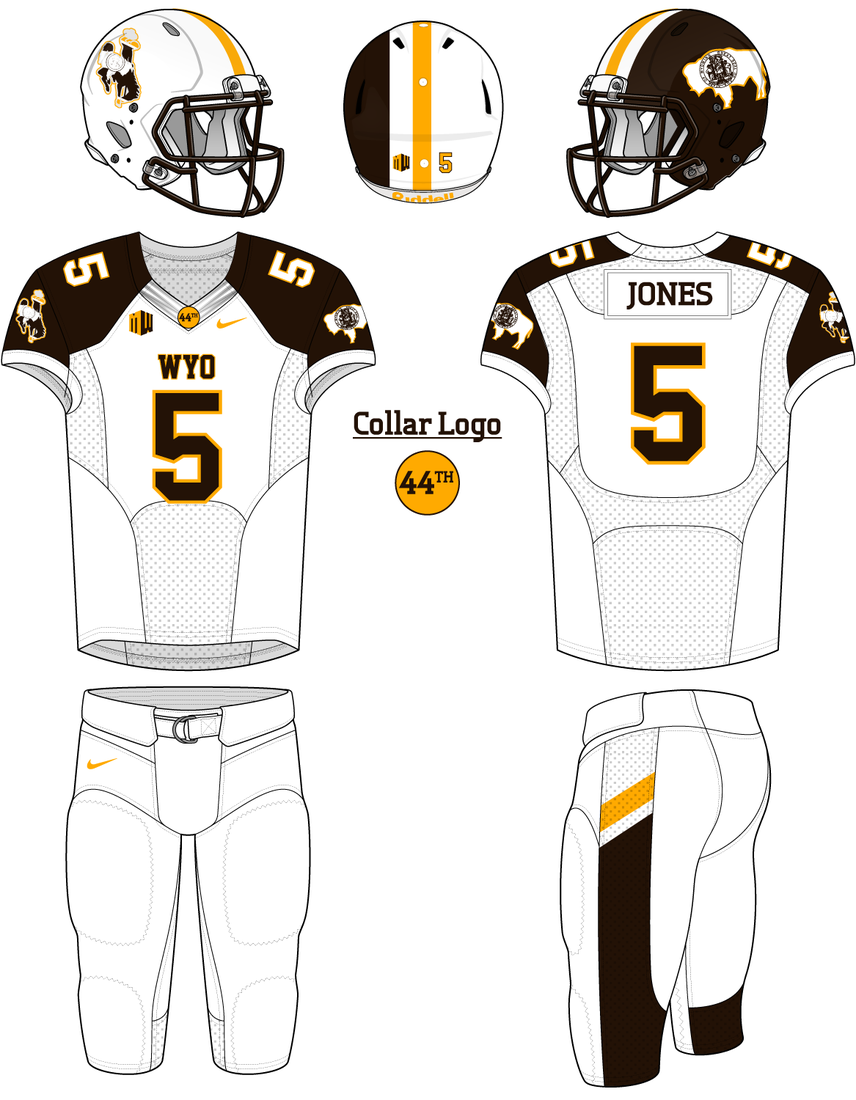 if wyoming were to ever have a uniform without the steamboat logo i    Under Armour Football Uniform Template