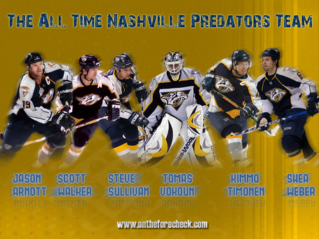 All-Time Nashville Predators Team