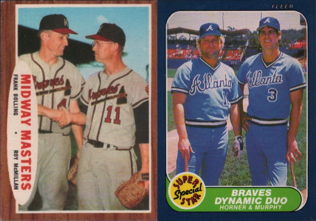 collecting vintage braves multi player cards   talking chop