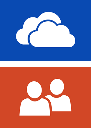 Skydrive and People icon
