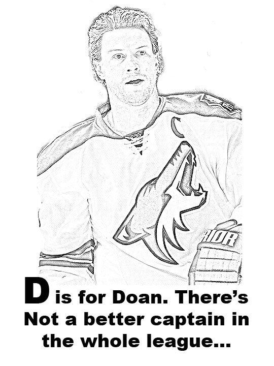 d_is_for_medium - Coloring Pages Hockey Players Nhl