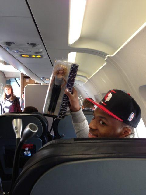 Blazers Rookies Punk Luke Babbitt On Team Plane - Blazer's ...