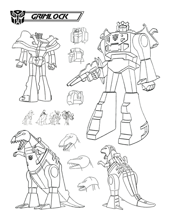 Transforming grimlock how high moon saved the dinobots for Grimlock coloring page