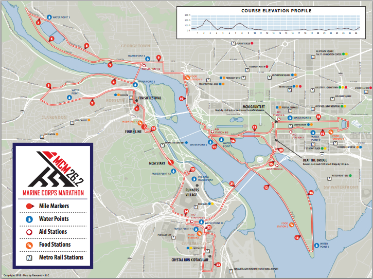 Marine Corps Marathon 2012 Route information course map and more