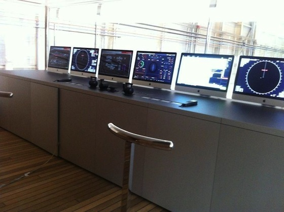 Steve Jobs Yacht iMacs
