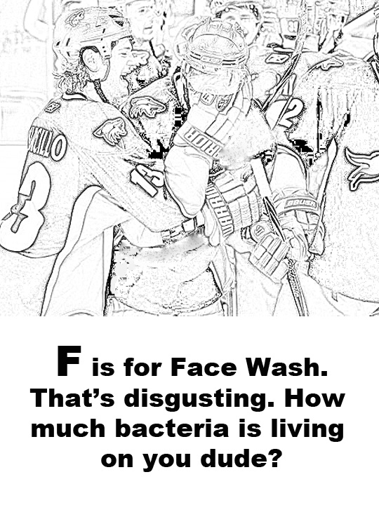 coyotes coloring pages - f is for... - five for howling - Chicago Blackhawks Coloring Pages