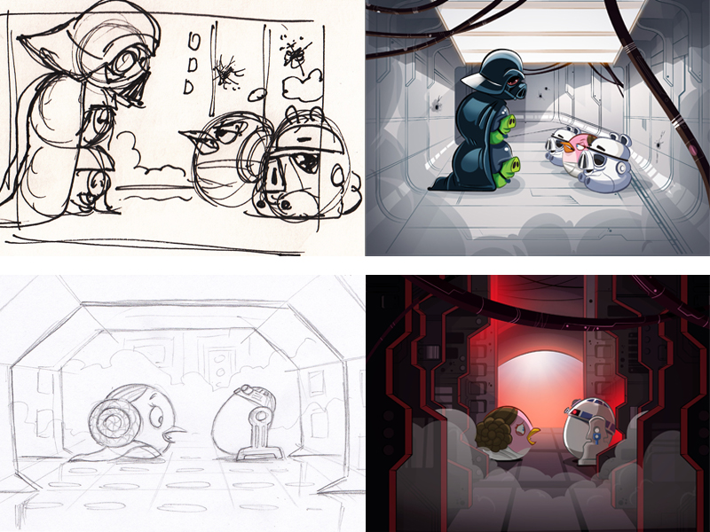 How The Art Of Angry Birds Star Wars Blended Two Pop Culture Juggernauts