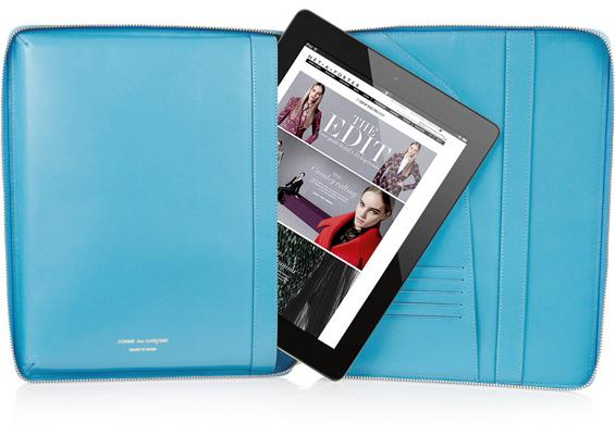 Blue Leather iPad Case Comme Des Gar?ons 3eLKpqT