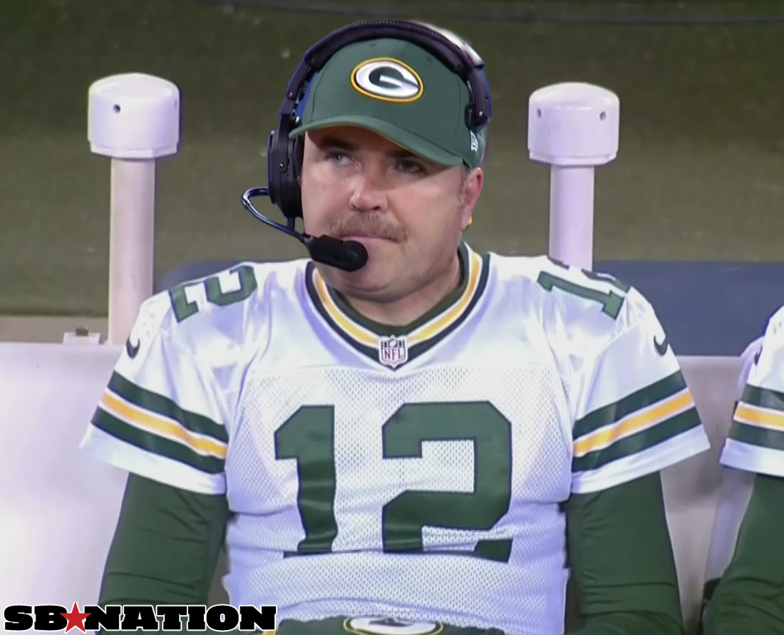 Aaron Rodgers Mike McCarthy Movember Mustache Mix Up