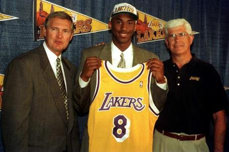 6/26/1996 - Hornets draft Kobe Bryant The Charlotte Hornets select Kobe