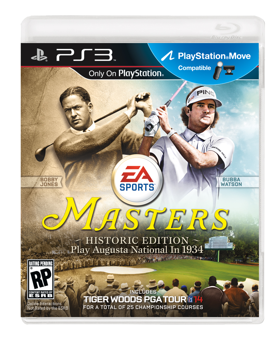 Tiger Woods PGA Tour 14: The Masters Historic Edition cover features
