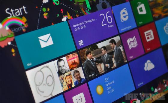 Windows 8, стартовый экран