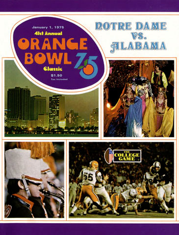 75orangebowl002 medium #Alabama   The Historical: Alabama vs Notre Dame   The 1975 Orange Bowl   #RollTide