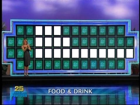 Wheel Of Fortune Food Or Drink