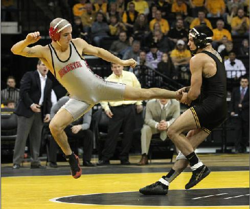 Iowa Hawkeyes Wrestling Wallpaper Ramos_jump_kick_ohio_state