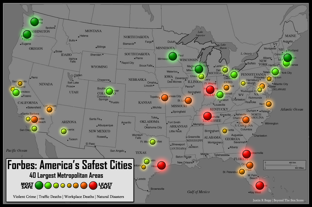 top 10 safest cities in usa 2014