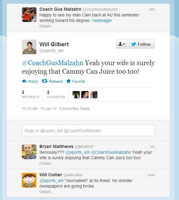 Arkansas Sports Editor Will Gilbert Loses Mind Tweets
