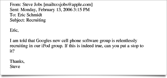 The No Hire Paper Trail Steve Jobs And Eric Schmidt Didn T