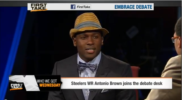 Steelers Antonio Brown on First Take, talks Steelers, looks for a free ...