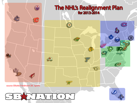 NHL proposed realignment from SB Nation.