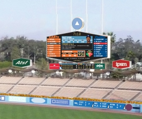 Dodger Stadium right field